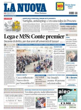 La Nuova Sardegna - 22/05/2018