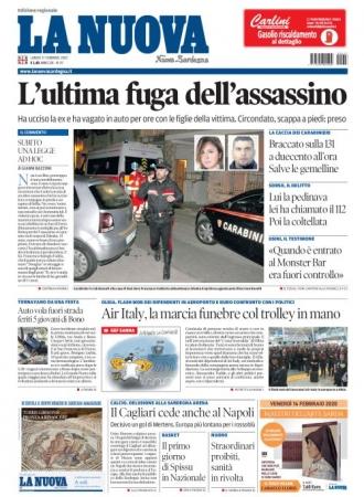 La Nuova Sardegna - 17/02/2020
