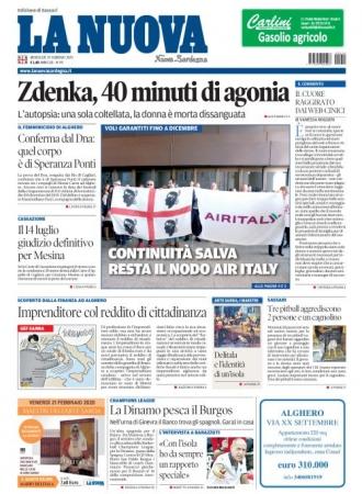 La Nuova Sardegna - 19/02/2020